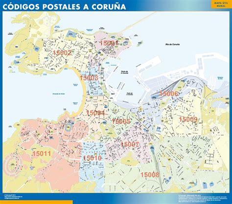 Mapa A Coruña   Envío mapas gratis en España penínsular