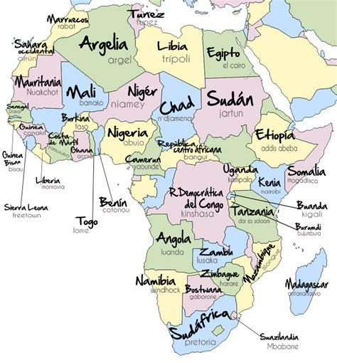 Mapa Africa Con Capitales