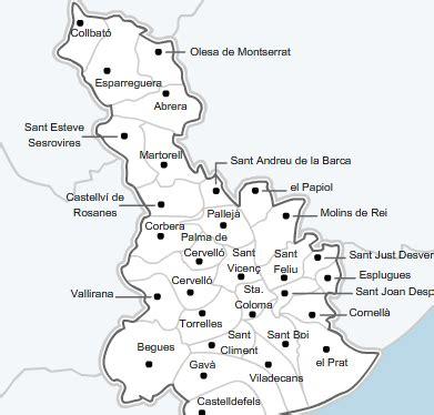Mapa Baix Llobregat | Mapa