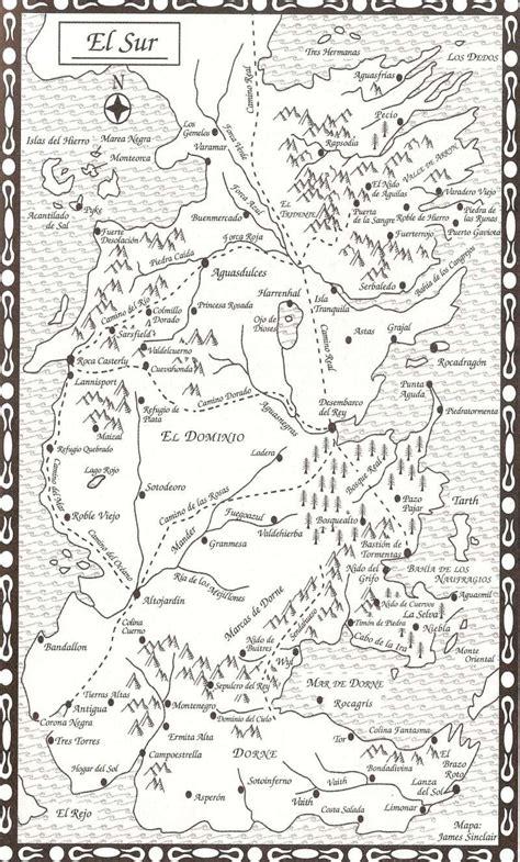 Mapa Cancion De Hielo Y Fuego | Mapa