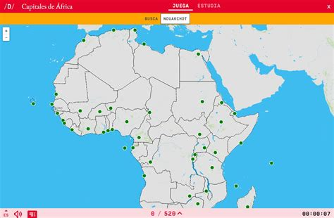 Mapa Capitales Africa   Mapa