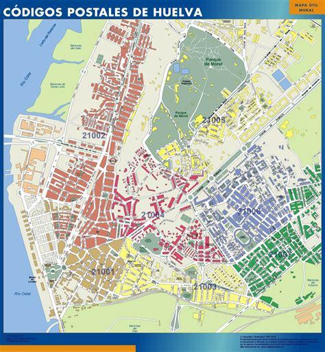 Mapa Códigos Postales de Huelva de Carreteras para pared ...