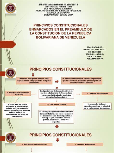 Mapa Conceptual Principios Constitucionales | Constitución ...