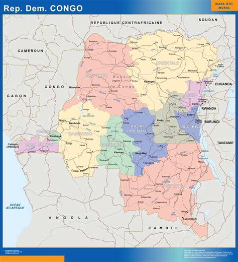 Mapa Congo República Democrática   Envío mapas gratis en ...
