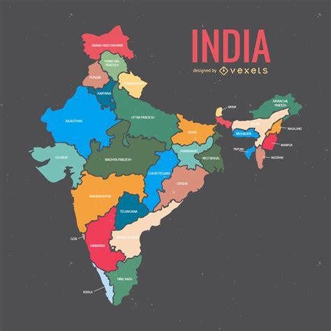 Mapa da índia com estados   Baixar Vector