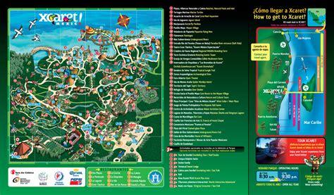 mapa de atracciones de xcaret | México Travel Advisors