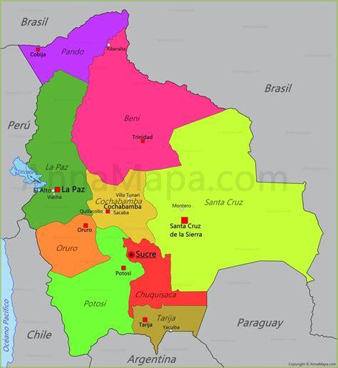 Mapa de Bolivia   AnnaMapa.com