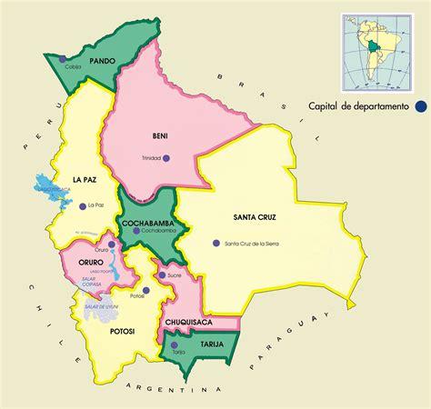Mapa de Bolivia   Mapa Físico, Geográfico, Político ...