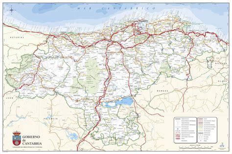 Mapa de Cantabria   Tamaño completo