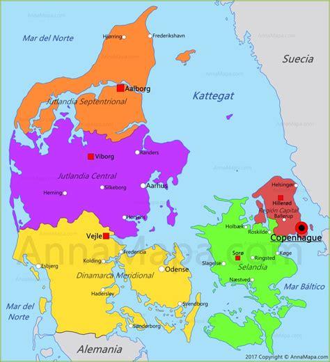 Mapa de Dinamarca   AnnaMapa.com