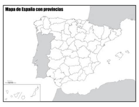 Mapa de España con provincias sin nombres para imprimir