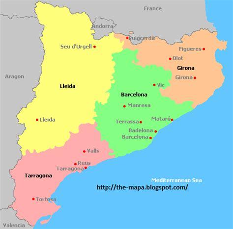 Mapa de España Geografía Política: Mapa de Cataluña Político