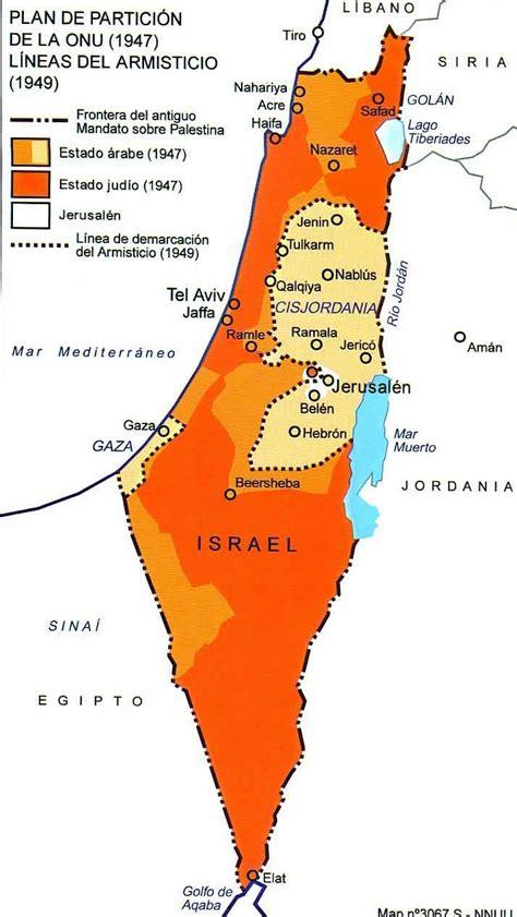 Mapa de Israel en 1947