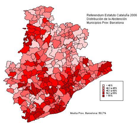 Mapa de la distribución de la abstención en los municipios ...
