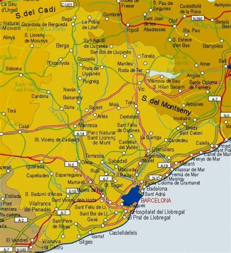 Mapa de la Provincia de Barcelona   Tamaño completo