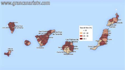 Mapa de la tasa de paro en Canarias por municipios   YouTube