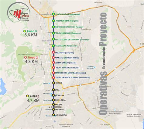 Mapa de las Lineas del Metro de Valencia | Subway map ...