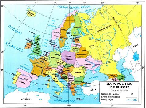 Mapa de los Países del Continente Europeo | www ...