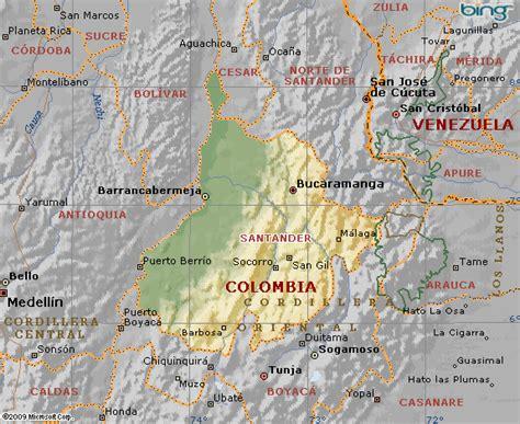 Mapa De Mapa Del Departamento De Santander Colombia | Car ...
