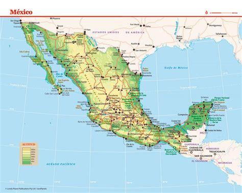 Mapa de México   Lonely Planet