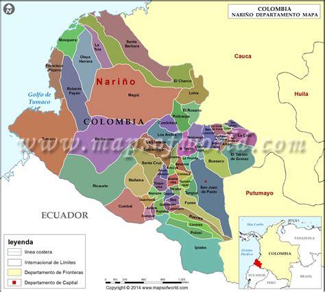 Mapa de Nariño | Departamento de Nariño Colombia