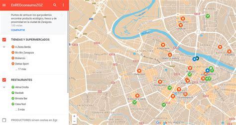 Mapa de puntos de venta con producto ecológico, fresco y ...