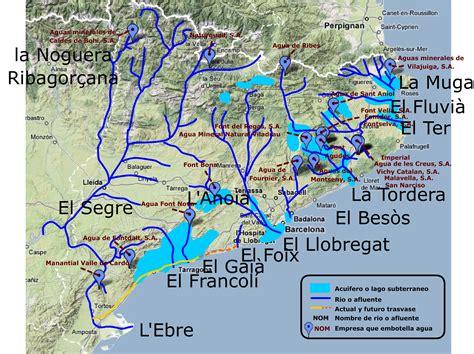 Mapa de ríos, afluentes, acuíferos y plantas ...
