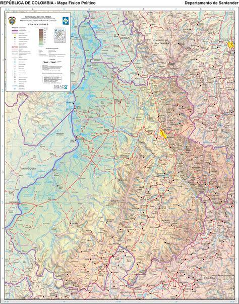 Mapa de Santander 2003   Tamaño completo