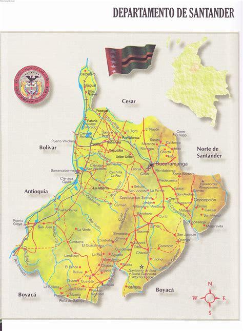 Mapa de Santander   Atlas geografico