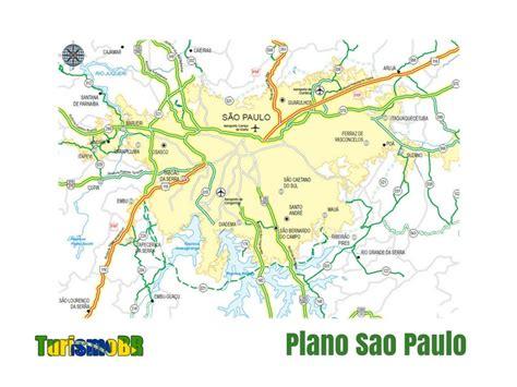 Mapa de Sao Paulo   Turismo Brasil