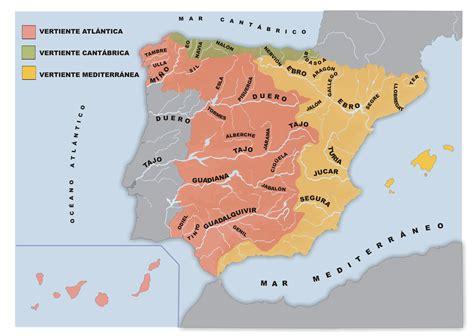 Mapa de vertientes de los ríos españoles