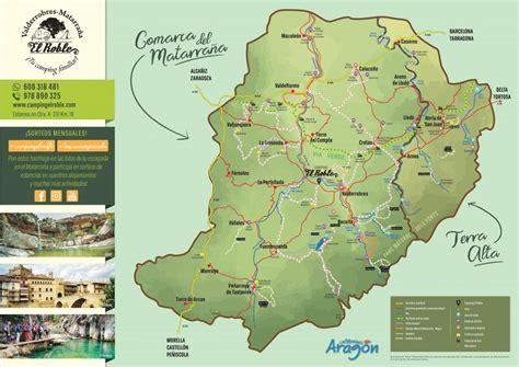 Mapa del Camping El Roble   Alojamiento en Valderrobres