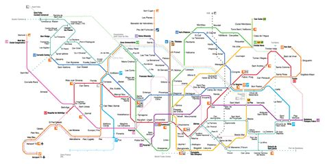 Mapa del Metro de Barcelona Actualizado en 2018