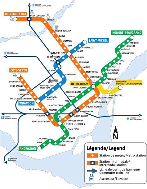 Mapa del metro de Montreal, Canada