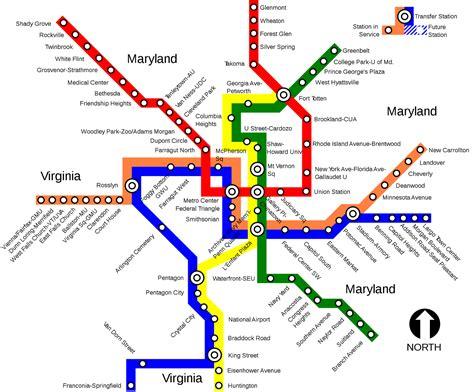 Mapa del Metro de Washington / Washington subway # ...