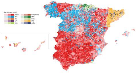 Mapa del resultado de las elecciones generales 28A 2019 ...