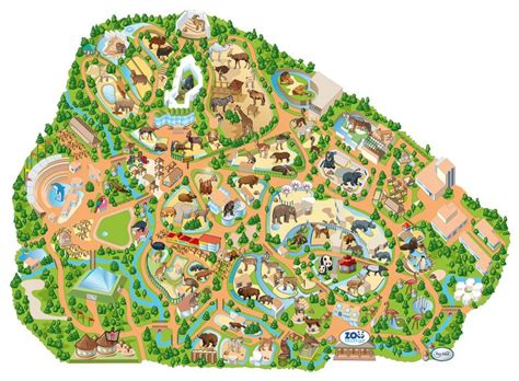 Mapa del Zoo Aquarium de Madrid in 2019 | Zoo map, Map ...