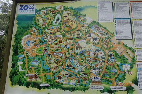 Mapa Del Zoo De Madrid | Mapa