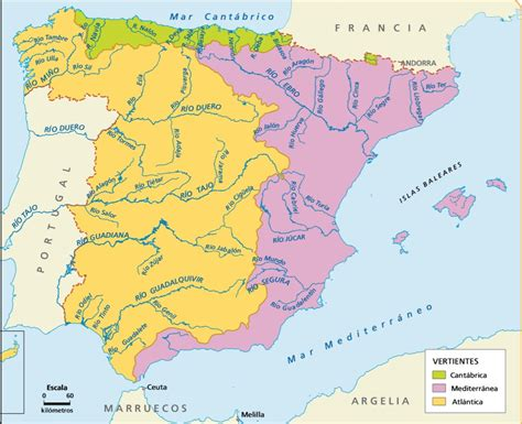 mapa delos rios de espana – CIENCIAS SOCIALES