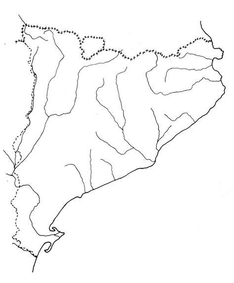 Mapa dels rius i embassaments de Catalunya