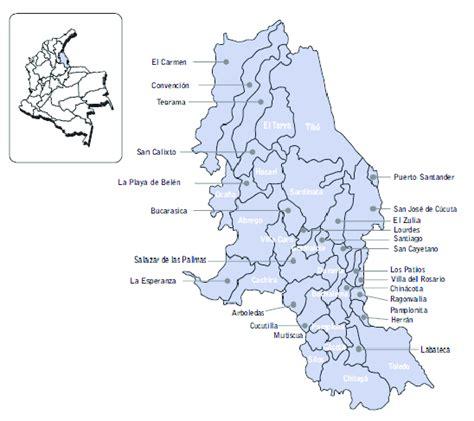 Mapa departamento de Norte de Santander  Colombia ...