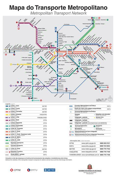 Mapa do Metrô e CPTM   novembro de 2018   Clique para ...