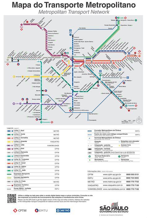 Mapa do Metrô e CPTM   novembro de 2019   Metrô CPTM
