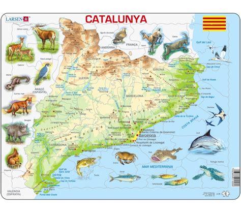 Mapa Físic de Catalunya en català