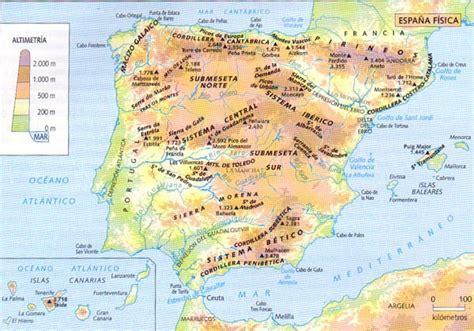 Mapa físico de la Península Ibérica   01. España ...