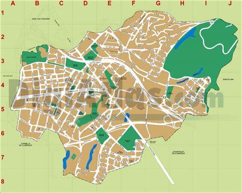 Mapa Guia De Hospitalet De Llobregat