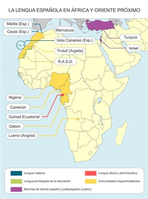 Mapa   Idioma español – Variedades dialectales del español