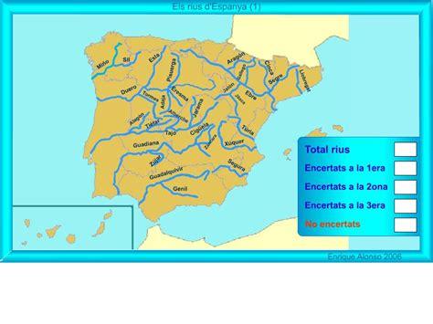 Mapa interactiu d Espanya Els rius d Espanya. On és ...