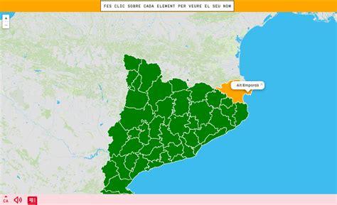 Mapa interactiu. On és? Comarques de Catalunya   Mapas ...