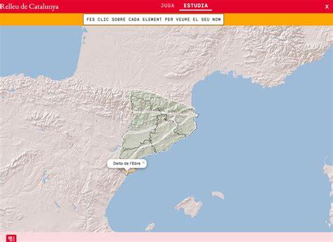Mapa interactiu. On és? Relleu de Catalunya   Mapas ...